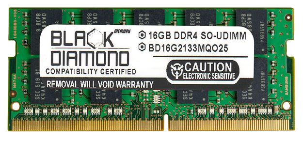 Picture of 16GB DDR4 2133 ECC SODIMM Memory 260-pin (2Rx8)