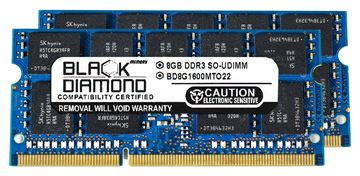 Picture of 16GB Kit (2x8GB) DDR3 1600 (PC3 12800) ECC SODIMM Memory 204-pin (2Rx8)