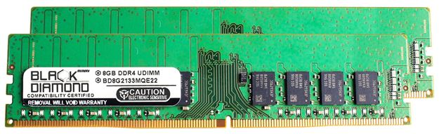 Picture of 16GB Kit (2x8GB) DDR4 2133 ECC Memory 288-pin (2Rx8)