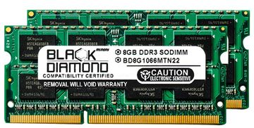 Picture of 16GB Kit(2X8GB) DDR3 1066 (PC3-8500) SODIMM Memory 204-pin (2Rx8)