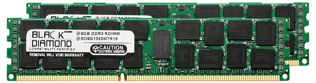Picture of 16GB Kit(2x8GB) DDR3 1333 (PC3-10600) ECC Registered Memory 240-pin (4Rx8)