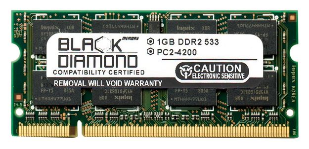 Picture of 1GB DDR2 533 (PC2-4200) SODIMM Memory 200-pin (2Rx8)