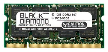 Picture of 1GB DDR2 667 (PC2-5300) SODIMM Memory 200-pin (2Rx8)