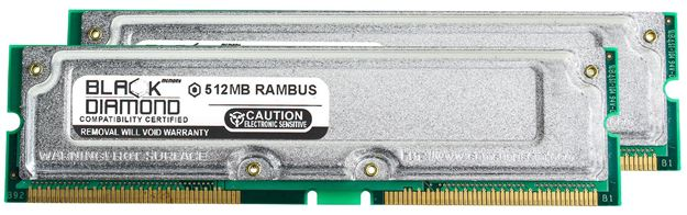 Picture of 1GB Kit(2X512MB) Rambus PC1066 Memory 184-pin