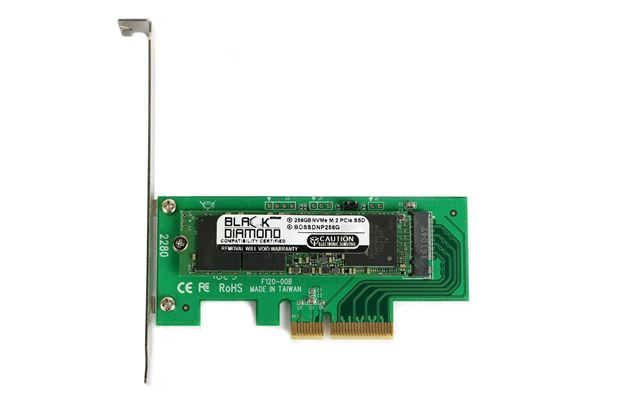 Picture of 256GB NVMe PCIe SSD Read & Write up to 2000MB/s & 900MB/s 3 years warranty