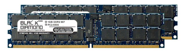 Picture of 2GB Kit (2x1GB) DDR2 667 (PC2-5300) ECC Registered Memory 240-pin (2Rx4)