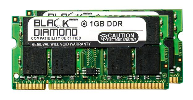 Picture of 2GB Kit(2X1GB) DDR 266 (PC-2100) SODIMM Memory 200-pin (2Rx8)