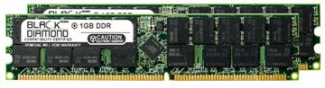 Picture of 2GB Kit(2X1GB) DDR 400 (PC-3200) ECC Registered Memory 184-pin (1Rx4)