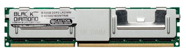 Picture of 32GB  LRDIMM DDR3 1600 (PC3-12800) ECC Registered Memory 240-pin (4Rx4)