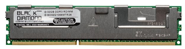 Picture of 32GB DDR3 1066 (PC3-8500) ECC Registered Memory 240-pin (4Rx4)