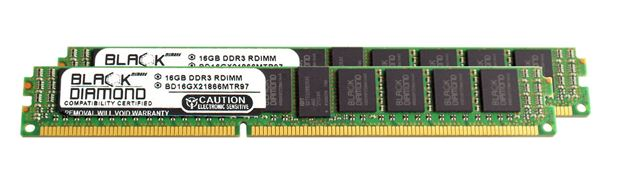 Picture of 32GB Kit (2x16GB) DDR3 1866 (PC3-14900) ECC Registered VLP Memory 240-pin (2Rx4)