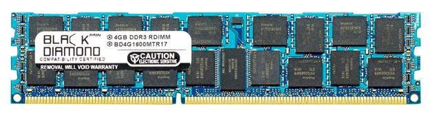 Picture of 4GB DDR3 1600 (PC3-12800) ECC Registered Memory 240-pin (2Rx4)
