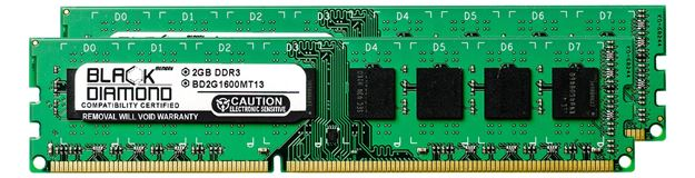 Picture of 4GB Kit (2x2GB) DDR3 1600 (PC3-12800) Memory 240-pin (2Rx8)