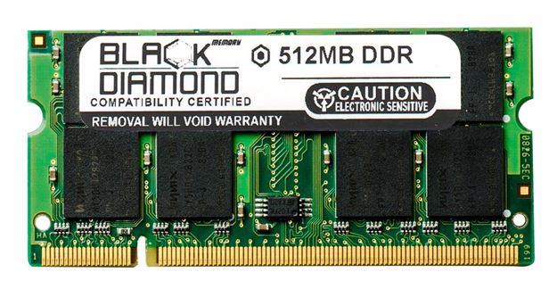 Picture of 512MB (2Rx8) DDR 266 (PC-2100) SODIMM Memory 200-pin