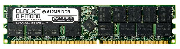 Picture of 512MB (2Rx8) DDR 400 (PC-3200) ECC Registered Memory 184-pin
