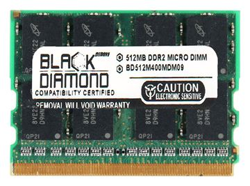 Picture of 512MB DDR2 400 (PC2-3200) Micro-Dimm Memory 214-pin (2Rx16)