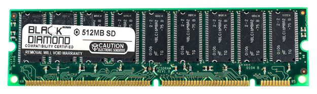 Picture of 512MB SDRAM PC100 ECC Registered Memory 168-pin (2Rx4)