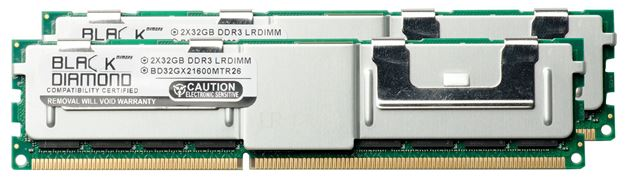 Picture of 64GB Kit (2x32GB) DDR3 1600 (PC3-12800) ECC Registered Memory 240-pin (4Rx4)