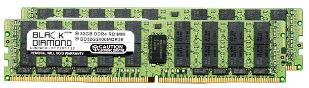 Picture of 64GB Kit (2x32GB) DDR4 2400 ECC Registered Memory 288-pin (4Rx4)