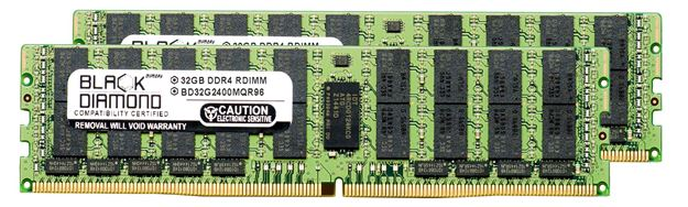Picture of 64GB Kit (2x32GB) LRDIMM DDR4 2400 ECC Registered Memory 288-pin (4Rx4)