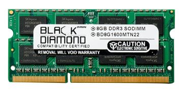 Picture of 8GB (2Rx8) DDR3 1600 (PC3-12800) SODIMM Memory 204-pin