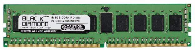 Picture of 8GB DDR4 2666 ECC Registered Memory 288-pin (2Rx4)