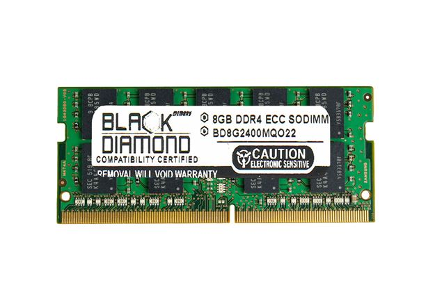 Picture of 8GB DDR4 2400 ECC SODIMM Memory 260-pin (2Rx8)