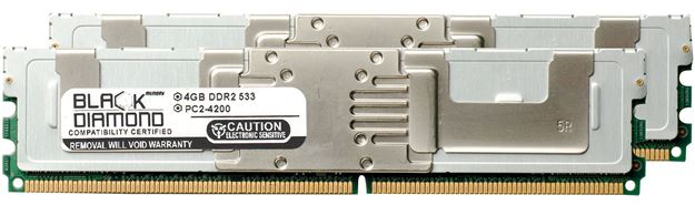 Picture of 8GB Kit (2x4GB) DDR2 533 (PC2-4200) Fully Buffered Memory 240-pin (2Rx4)