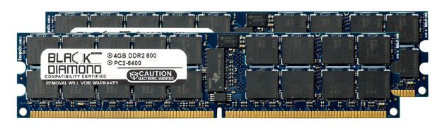 Picture of 8GB Kit (2x4GB) DDR2 800 (PC2-6400) ECC Registered VLP Memory 240-pin  (2Rx4)