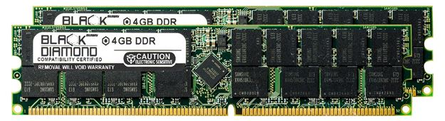 Picture of 8GB Kit(2X4GB) DDR 400 (PC-3200) ECC Registered Memory 184-pin (2Rx4)