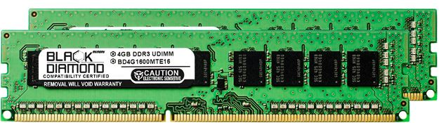 Picture of 8GB Kit(2x4GB) DDR3 1600 (PC3-12800) ECC Memory 240-pin (2Rx8)