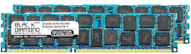 Picture of 8GB Kit(2x4GB) DDR3 1600 (PC3-12800) ECC Registered Memory 240-pin (2Rx4)