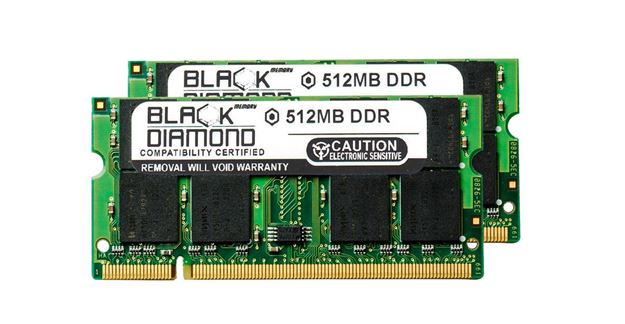 Picture of 1GB Kit(2X512MB) DDR 333 (PC-2700) SODIMM Memory 200-pin (2Rx8)