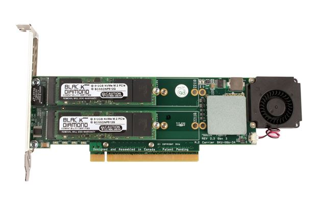Picture of 2TB NVMe (4X512GB) Raid 0 PCIe Gen3 SSD