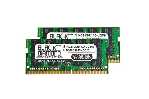 Picture of 32GB Kit (2x16GB) DDR4 2666 ECC SODIMM Memory 260-pin (2Rx8)