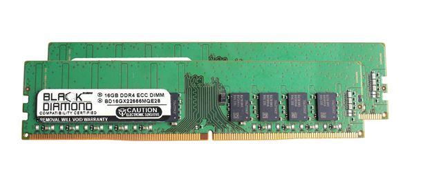 Picture of 32GB (2x16GB) DDR4 2666 ECC Memory 288-pin (2Rx8)