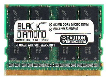 Picture of 512MB DDR2 533 (PC2-4200) Micro-DIMM Memory 214-pin (2Rx16)