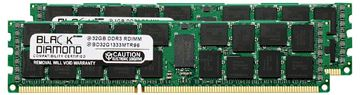 Picture of 64GB Kit (2x32GB) LRDIMM DDR3 1333 (PC3-10600) ECC Registered Memory 240-pin (4Rx4)