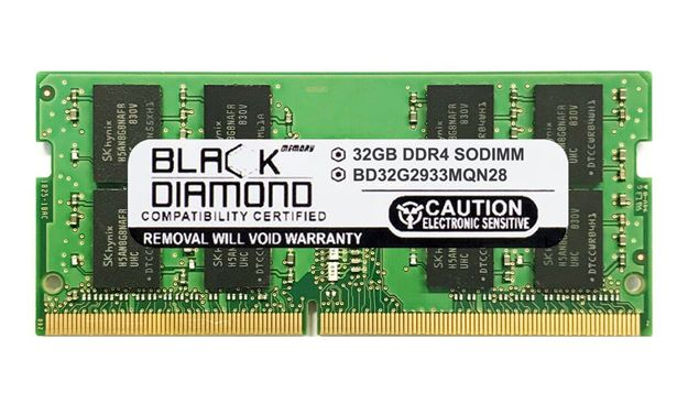 Picture of 32GB DDR4 2933 SODIMM Memory 260-pin (2Rx8)