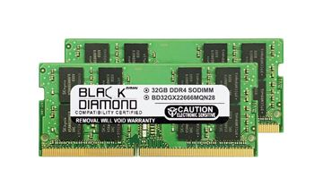 Picture of 64GB Kit(2X32GB) DDR4 2666 SODIMM Memory 260-pin (2Rx8)