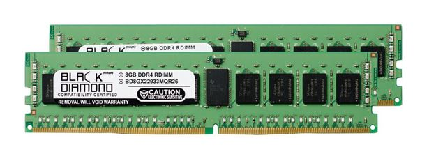Picture of 16GB Kit (2x8GB) DDR4 2933  ECC Registered Memory 288-pin (1Rx4)