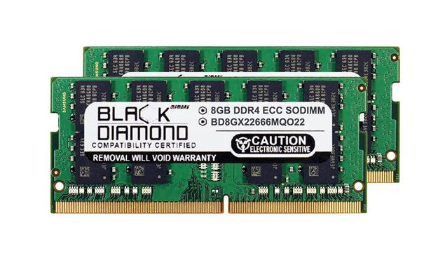 Picture of 16GB Kit (2x8GB) DDR4 2666 ECC SODIMM Memory 260-pin (2Rx8)